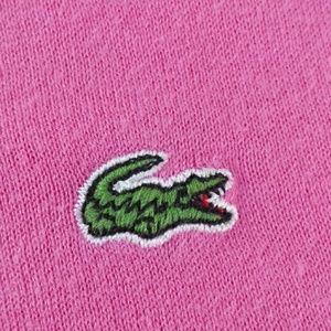 Lacoste Tops - Lacoste long sleeve pink top size 46 women sz L